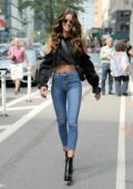 Izabel Goulart attends call backs for the 2017 Victoria's Secret fashion show in Midtown, New York City