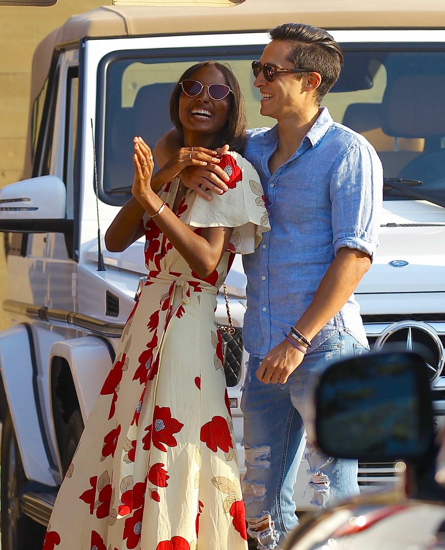 Jasmine Tookes and Juan David Borrero spotted at Nobu in Malibu
