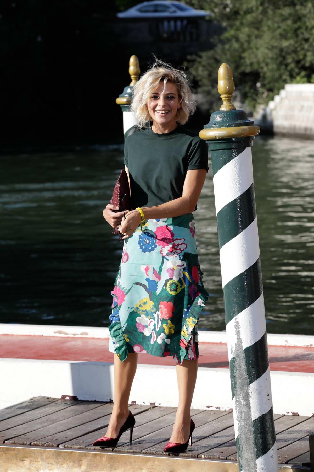 Jasmine Trinca arriving at Lido during 74th Venice Film Festival in Venice, Italy