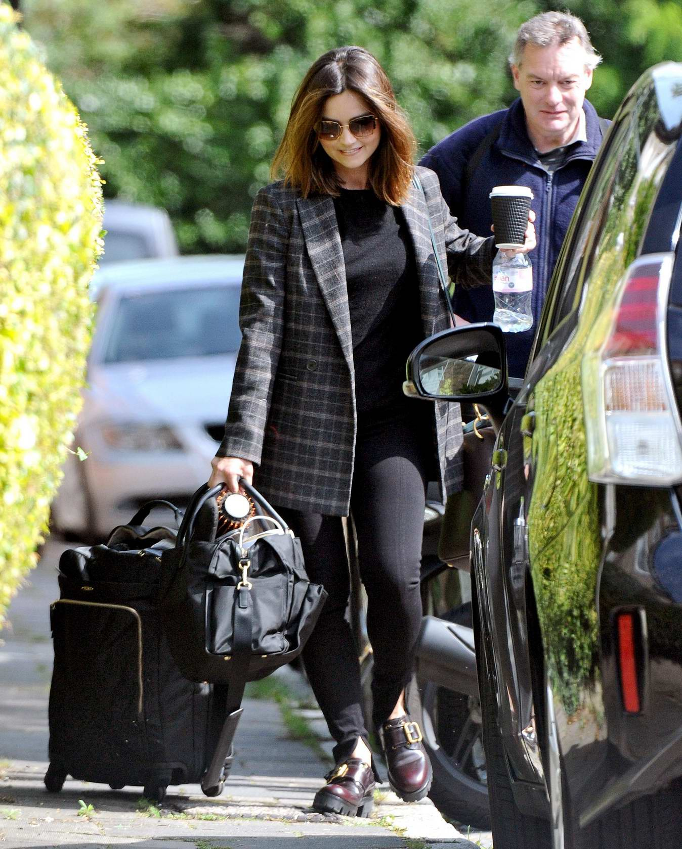 Jenna Coleman spotted while out and about in London