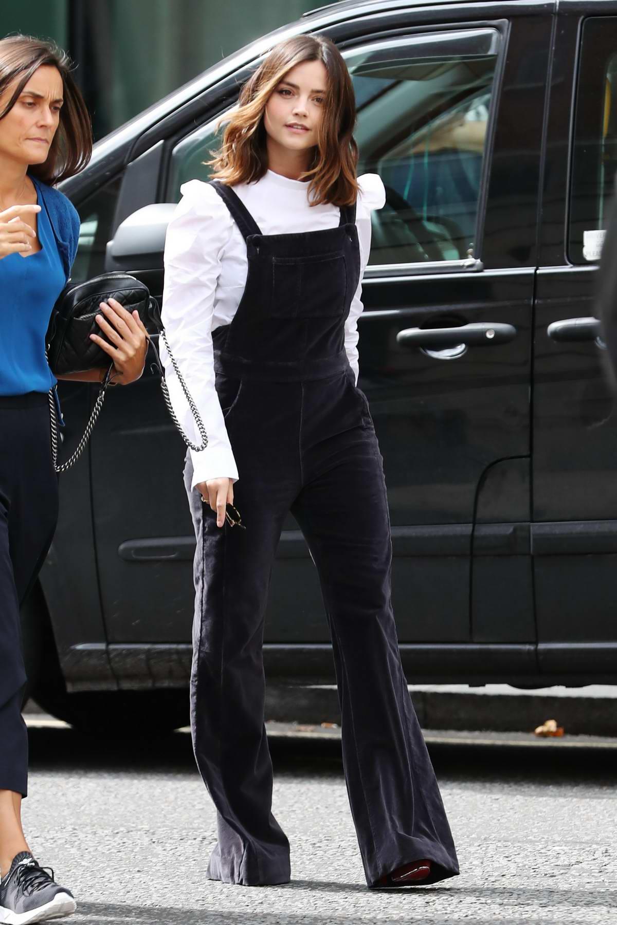 Jenna Coleman visiting BBC Radio 2 in London
