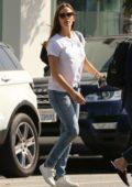 Jennifer Garner leaves the DryBar after getting her hair done in Santa Monica, California
