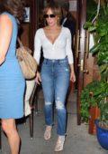 Jennifer Lopez and sister Lynda Lopez are seen leaving Nello in New York