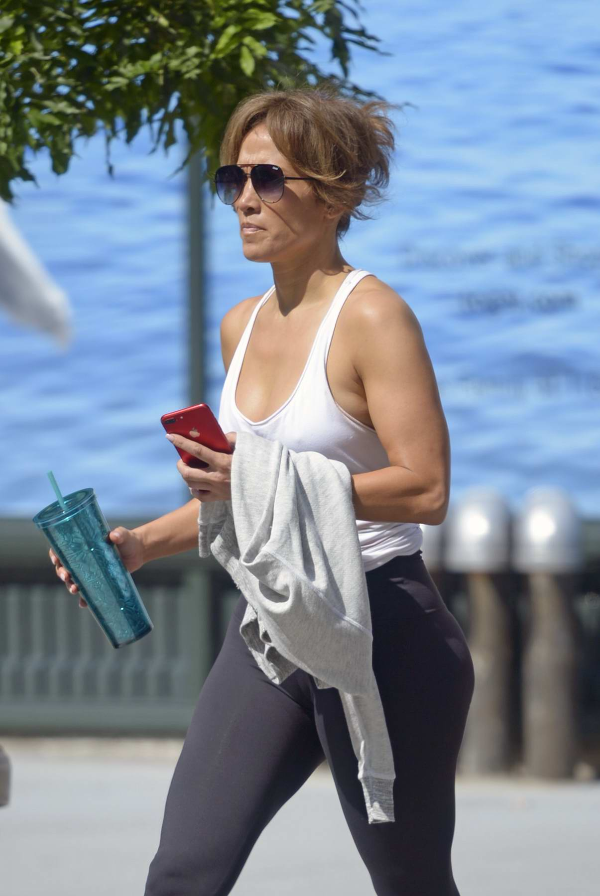 Jennifer Lopez out and about after a workout in New York