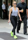 Jennifer Lopez walks home from the Gym in New York City