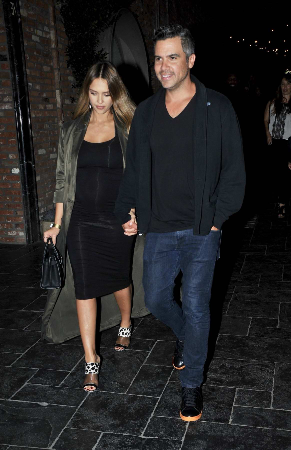 Jessica Alba out on a date night with husband Cash Warren in Hollywood, Los Angeles