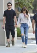Jessica Biel and Justin Timberlake are spotted enjoying smoothies while out and about in New York City