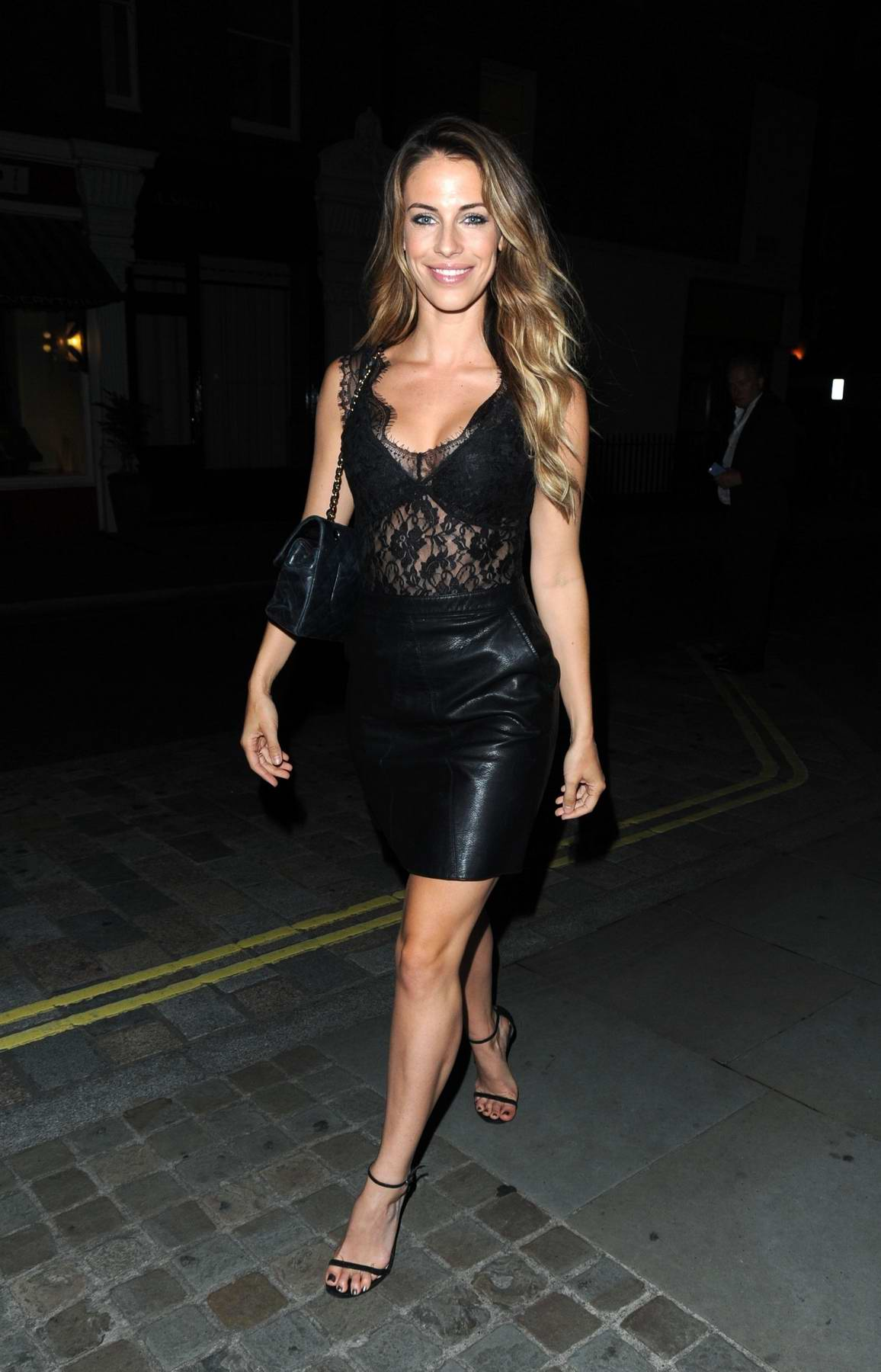 Jessica Lowndes enjoying a Night out at the Chiltern Firehouse in London