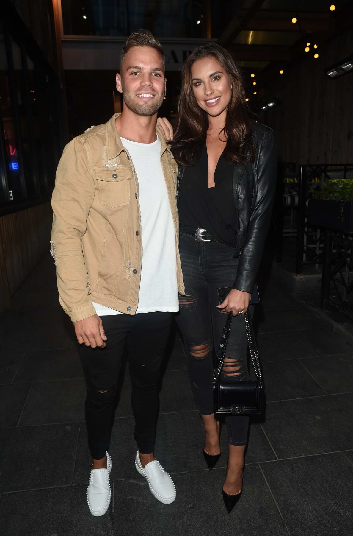 Jessica Shears and Dom Lever enjoying a Night out at Neighbourhood in Manchester, UK