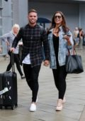 Jessica Shears arrives at Manchester Airport, UK