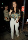 Jessica Shears arriving for a personal appearance at the ATIK Nightclub in Halifax, West Yorkshire, UK