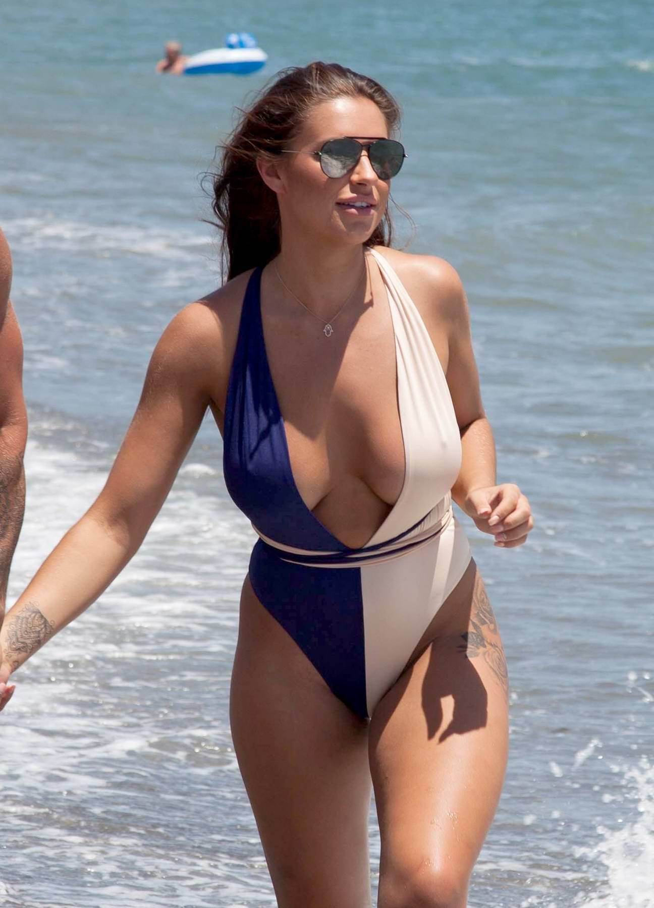 Jessica Shears in a Swimsuit enjoying the Beach in Spain