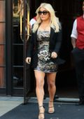 Jessica Simpson leaves the Bowery Hotel in New York