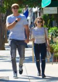 Joey King holding hands with Mystery man while out for lunch in Los Angeles