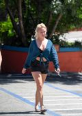 Jorgie Porter out and about with her Mother in Los Angeles
