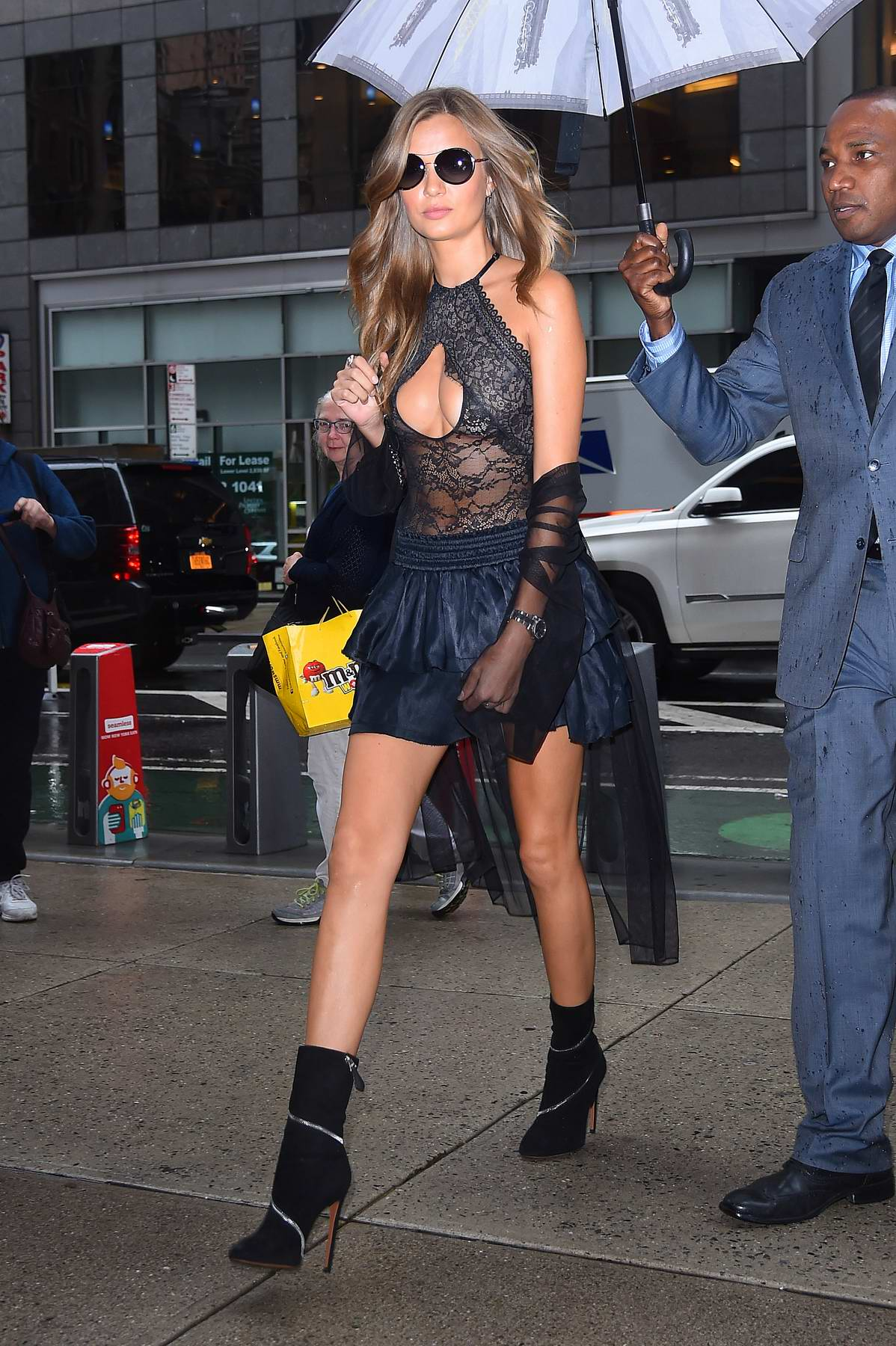 Josephine Skriver arrives for the Victoria's Secret fashion show fittings in New York