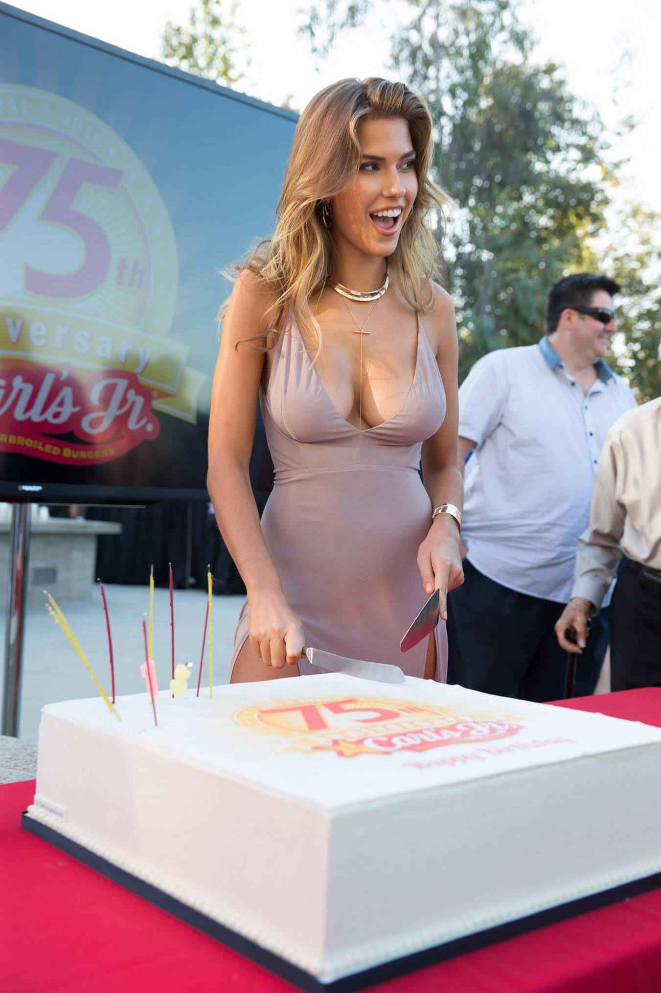 Kara Del Toro at the 75th Anniversary of Carl's Jr in Los Angeles