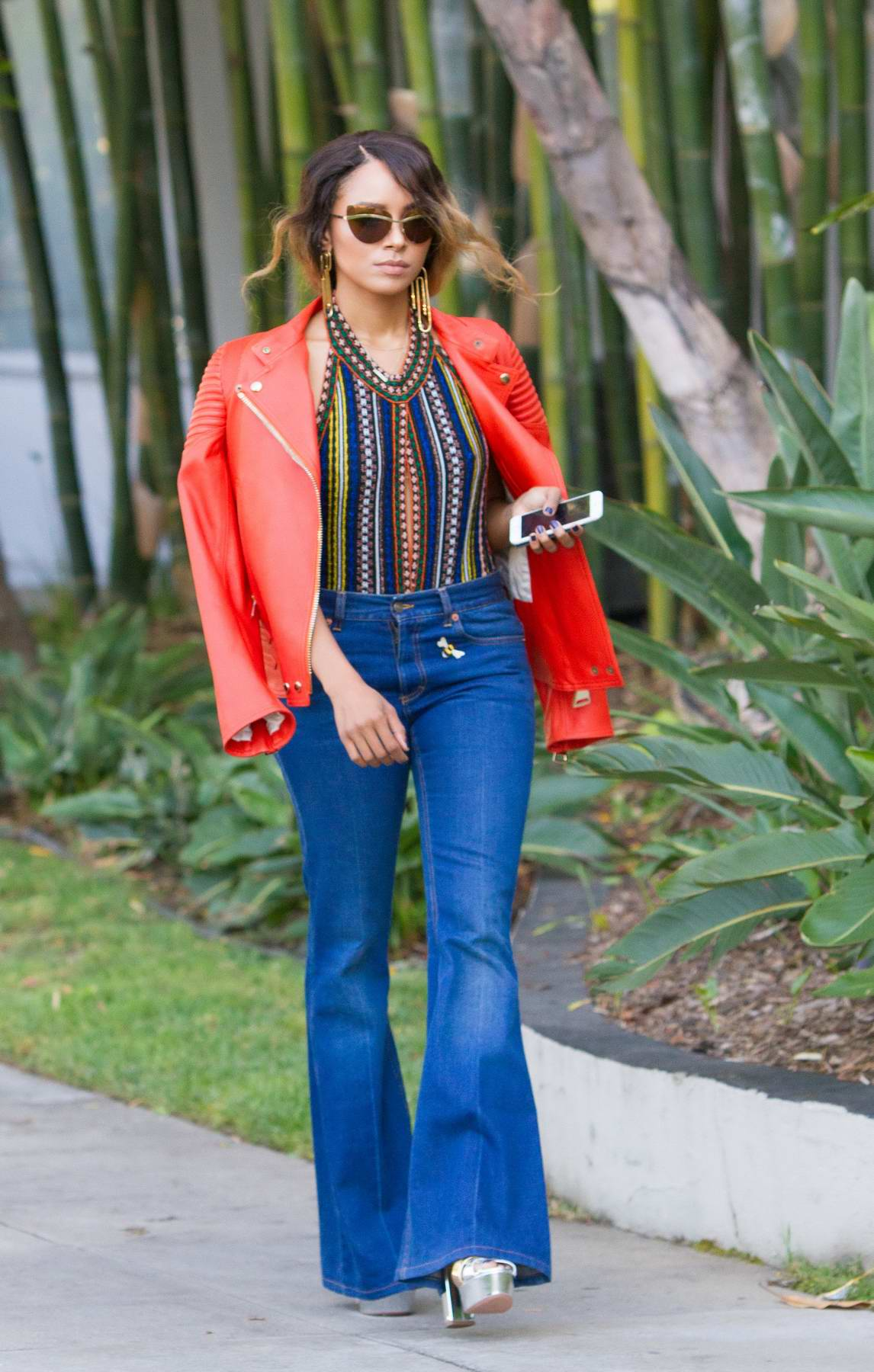 Kat Graham is spotted out and about in Beverly Hills, Los Angeles