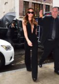 Kate Beckinsale is seen arriving at her Hotel wearing all Black in New York