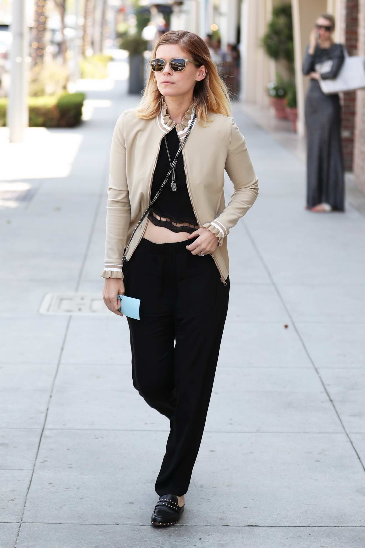 Kate Mara makes a trip to the Salon before running errands in West Hollywood, California