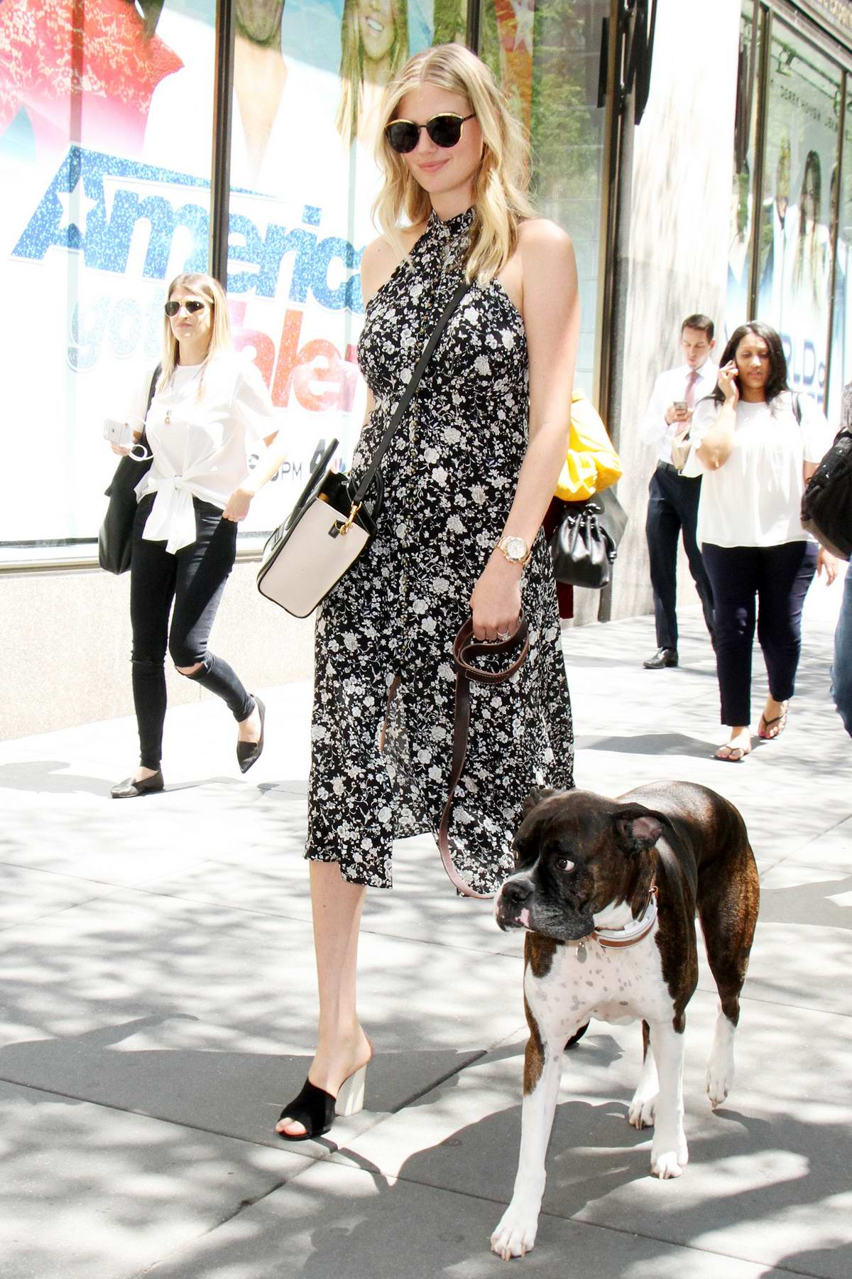 Kate Upton attends Access Hollywood with her Dog in New York