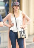 Kate Upton spotted with Friends while heading to lunch at Sarabeths in New York