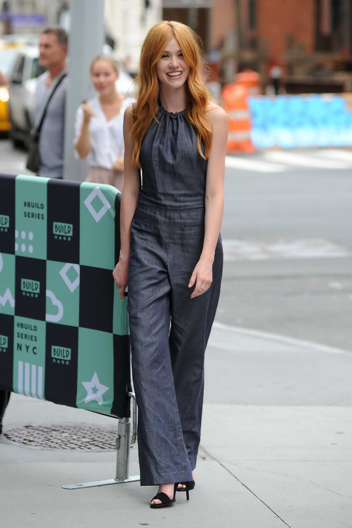 Katherine McNamara spotted outside AOL Build Series studios in New York