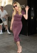 Katheryn Winnick leaving The Good Day New York Morning show Studios in New York