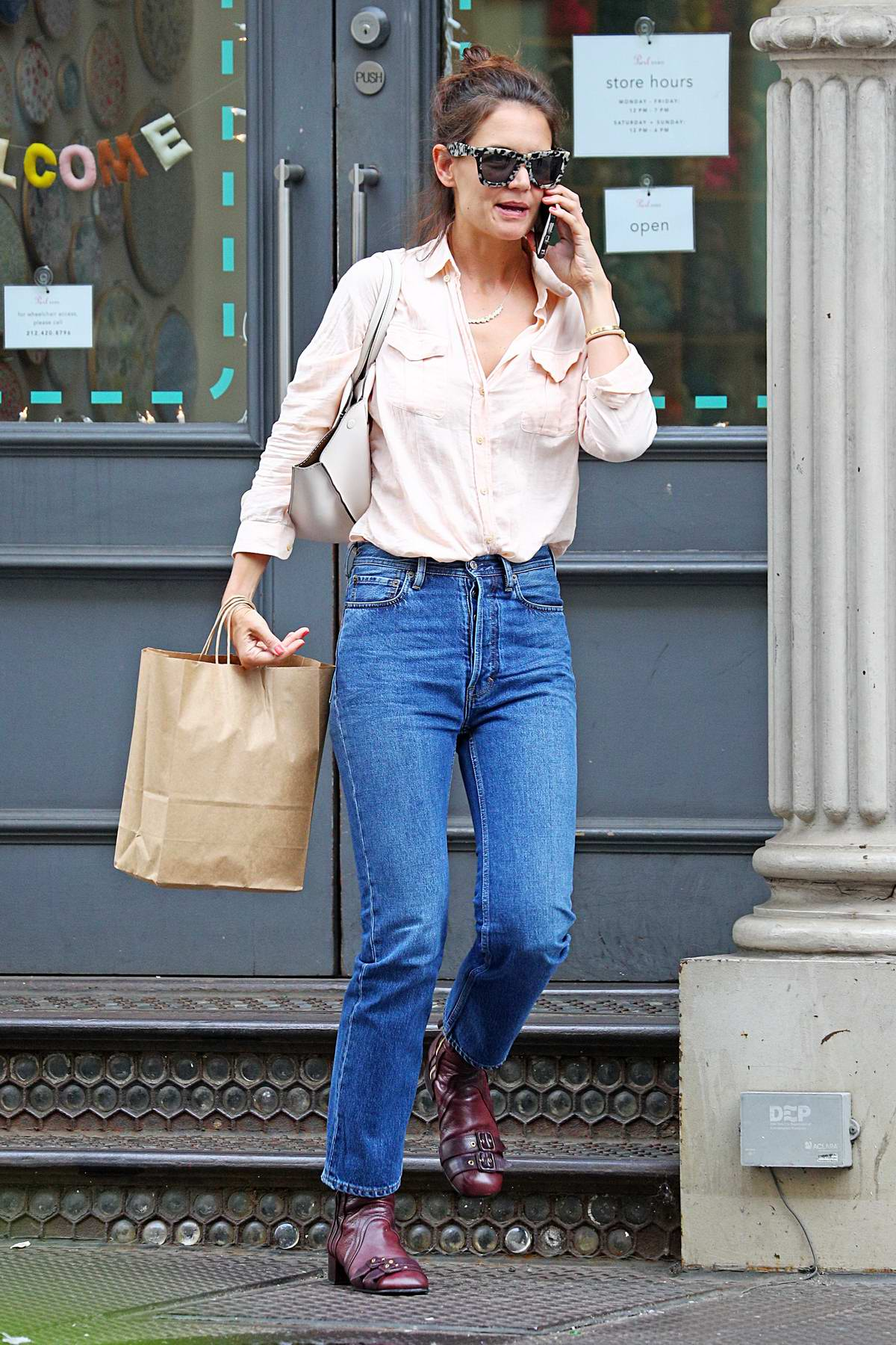 Katie Holmes spotted shopping in Soho, New York