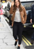 Kelly Brook spotted leaving Debenhams, London