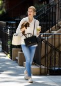 Kelly Rutherford spotted leash-training her new puppy Cappuccina in New York