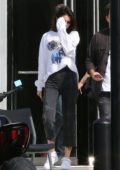 Kendall Jenner leaving a studio with friends in Culver City, Los Angeles