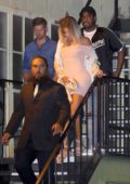 Khloe Kardashian and Tristan Thompson spotted leaving Ace of Diamonds Strip club in West Hollywood, California