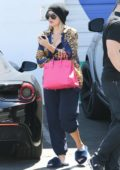 Khloe Kardashian is seen arriving at a studio for a day of filming in Studio City, Los Angeles