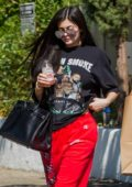 Kylie Jenner seen picking up munchies with a Friend at Blue Table in Los Angeles