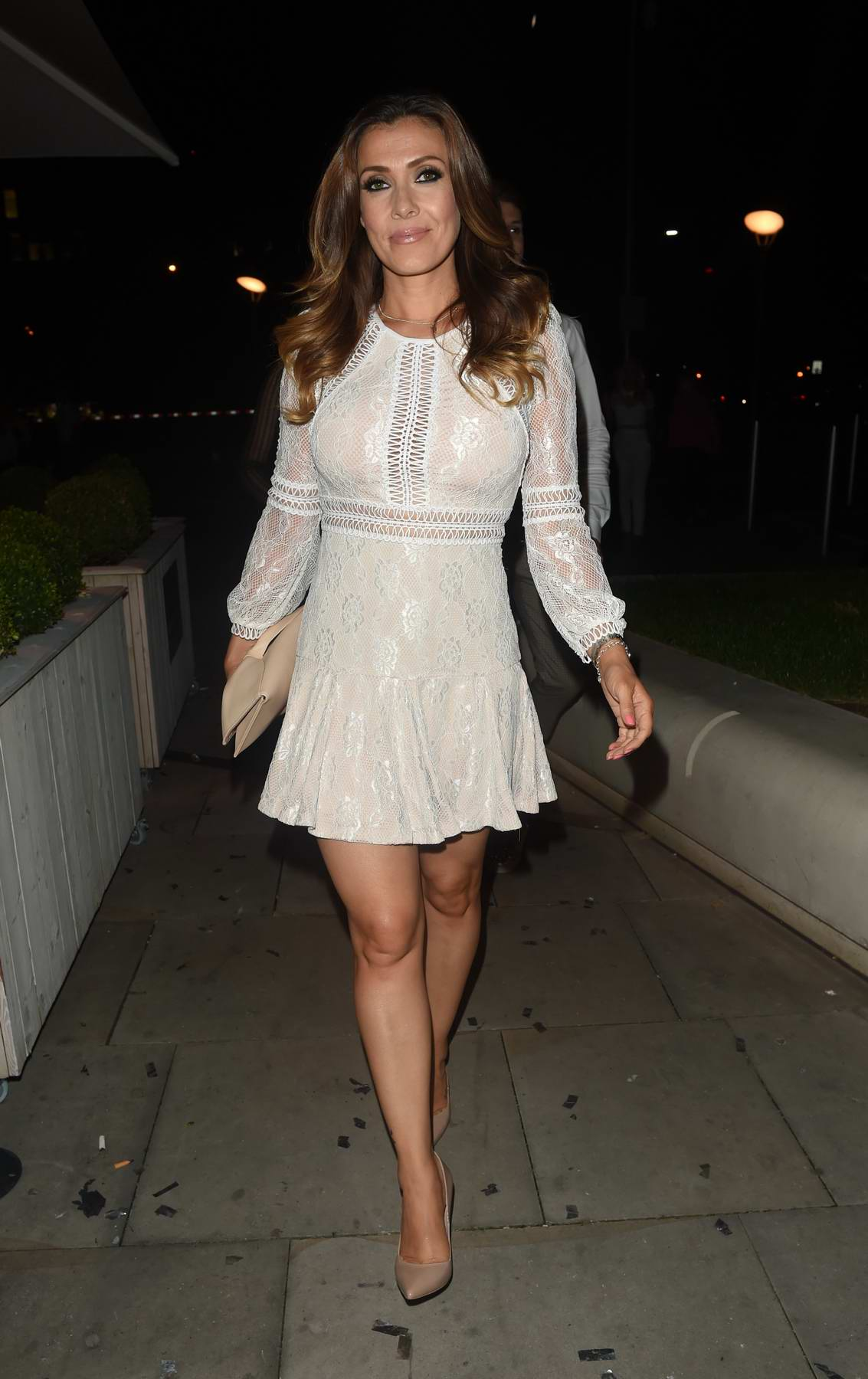 Kym Marsh spotted at Rosso Restaurant and Menagerie in Manchester, UK