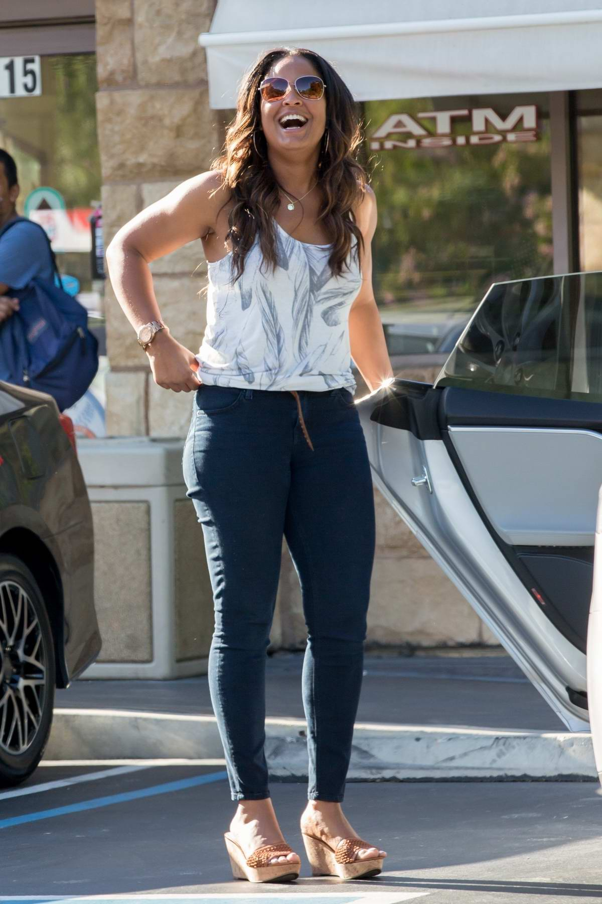 Laila Ali steps out with her Mother in Calabasas, California