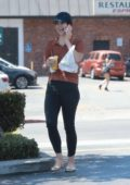 Lana Del Rey grabs lunch at the Oaks Gourmet market in Los Feliz, California