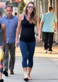 Lara Trump out jogging with a friend and secret service protecting her while showing her belly bump in Central Park, New York City