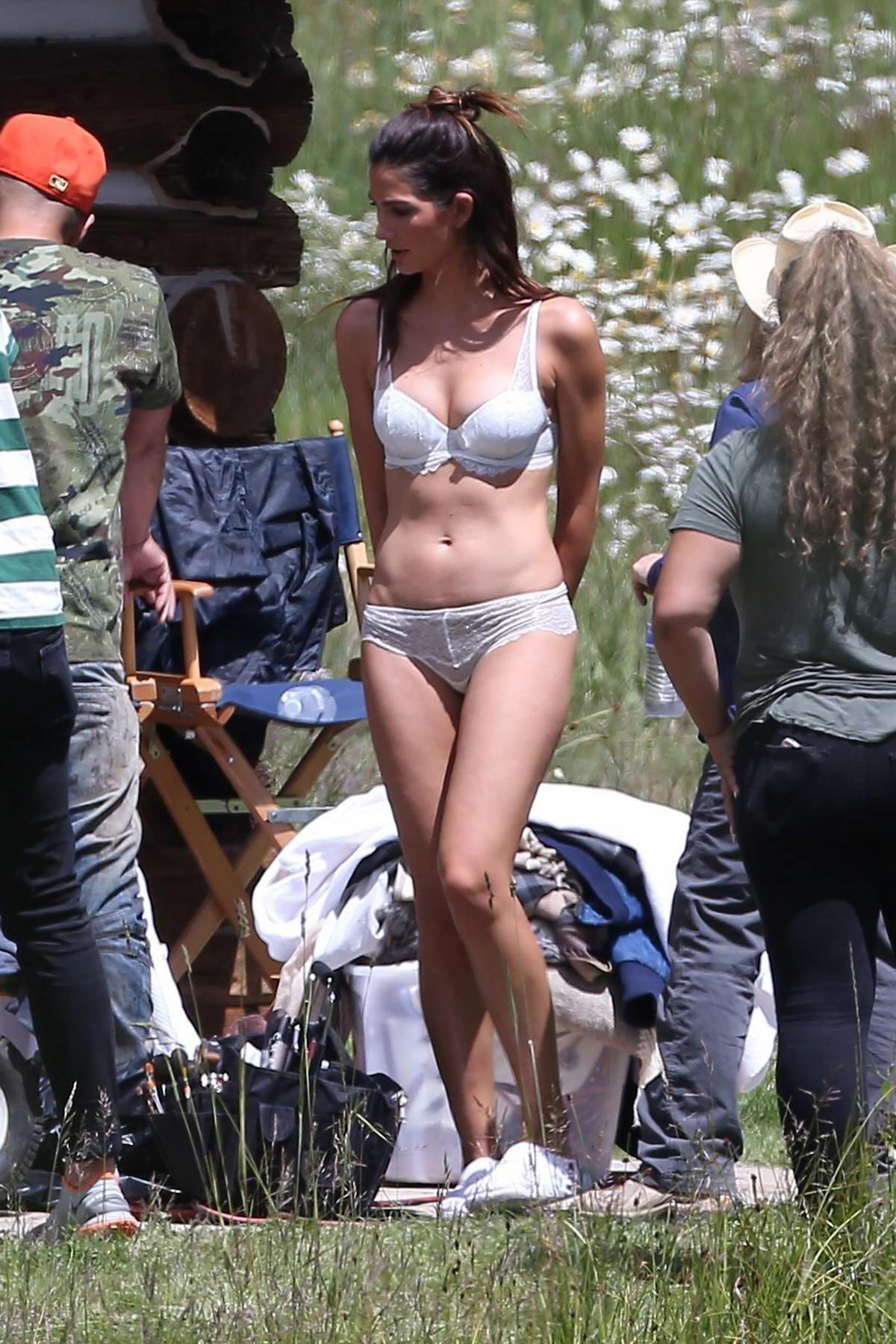 Lily Aldridge, Jasmine Tookes and Lais Ribeiro shot a Victoria's Secret Ad campaign in Aspen, Colorado