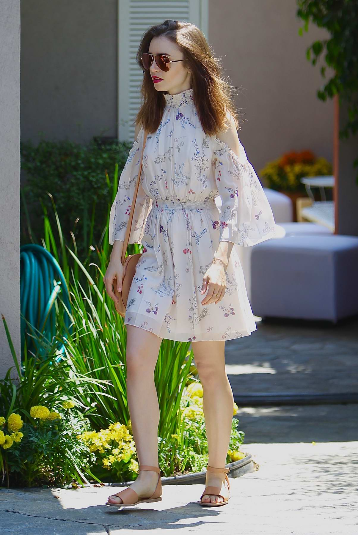 Lily Collins attending InStyles Day of Indulgence party in Brentwood, Los Angeles