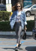 Lily Collins goes shopping at Ralph's in West Hollywood