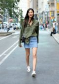 Liu Wen leaves Victoria's Secret fashion show casting in Mid-Town in New York City