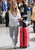 Lottie Moss arrives at Gatwick Airport after a flight from Catania, Sicily