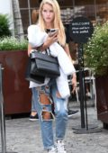 Lottie Moss leaves the Bluebird Cafe in London