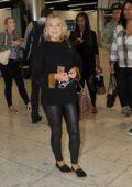 Lucy Fallon at Dublin Airport in Dublin, Ireland