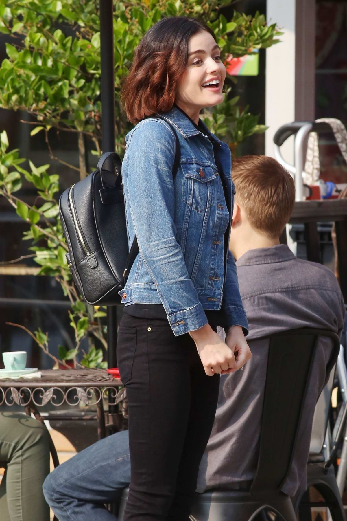 Lucy Hale onset of new show 'Life Sentence' in New Westminster, Canada