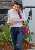 Lucy Hale out after finishing work in Burnaby, British Columbia, Canada