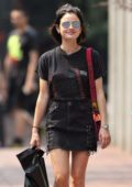 Lucy Hale rocks a Grunge look while shopping in Vancouver, Canada