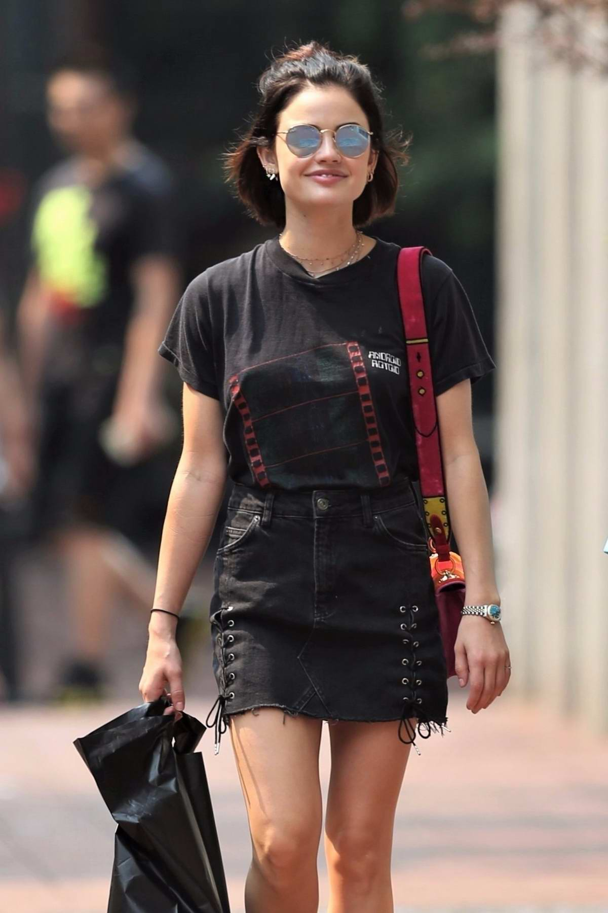 Lucy Hale Rocks A Grunge Look While Shopping In Vancouver